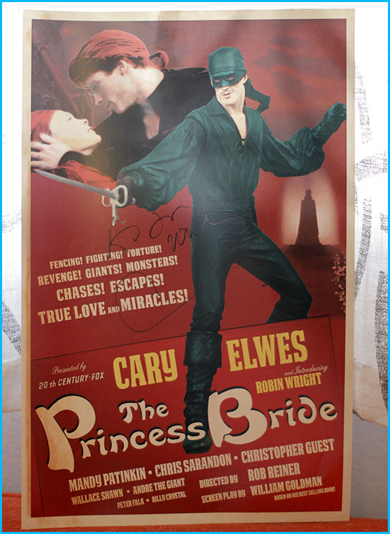 The Princess Bride poster signed by Cary Elwes