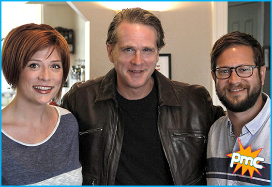 Cary Elwes with hosts Vanessa Ragland and Cole Stratton