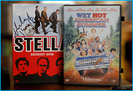 Stella and Wet Hot American Summer signed by Michael Showalter