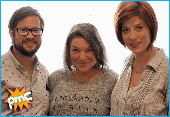 Mindy Cohn with hosts Cole Stratton and Vanessa Ragland