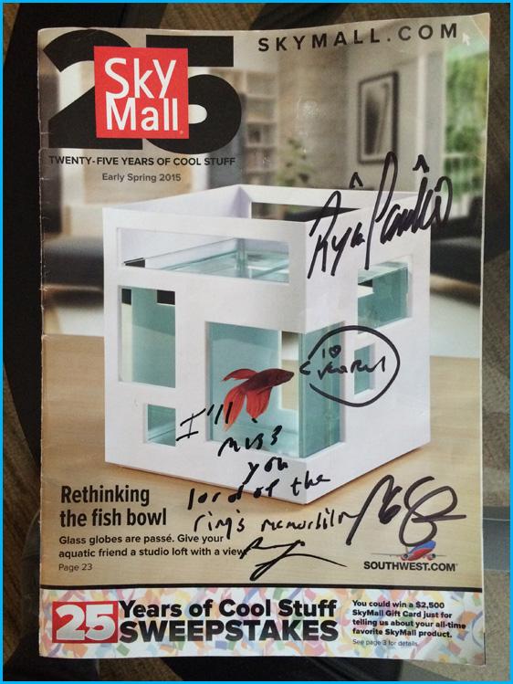 Signed Skymall magazine
