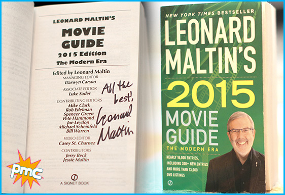 Leonard Maltin signed copy of his 2015 Movie Guide
