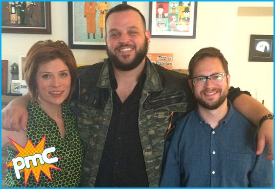 Daniel Franzese with hosts Vanessa Ragland and Cole Stratton