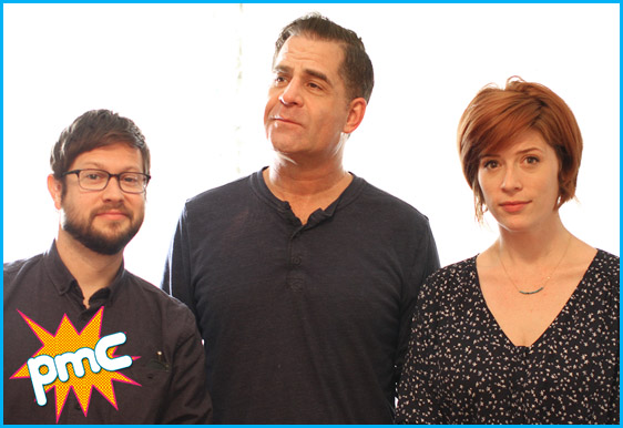 Todd Glass with hosts Cole stratton and Vanessa Ragland