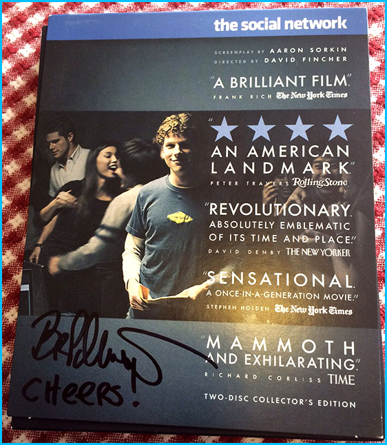 Signed Social Network DVD