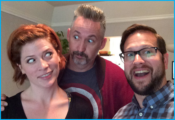 Harland Williams with hosts Vanessa Ragland and Cole Stratton