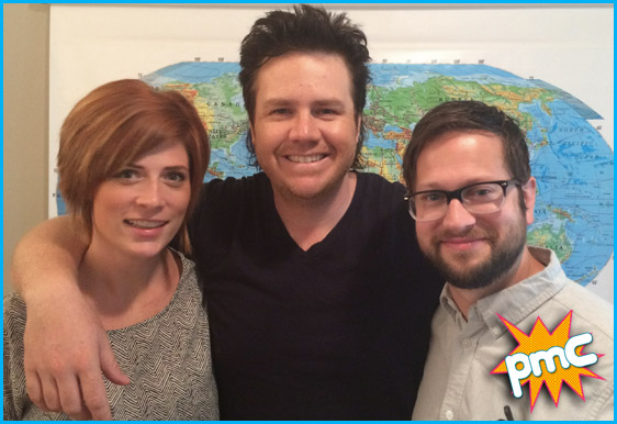 Josh McDermitt with hosts Vanessa Ragland and Cole Stratton