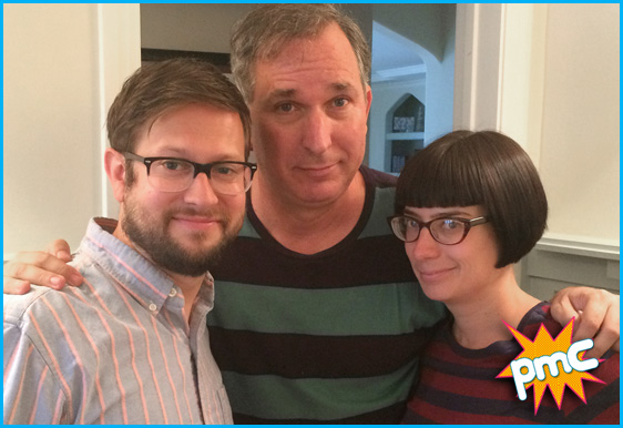 Wayne Federman with host Cole Stratton and guest host Jaime Fox