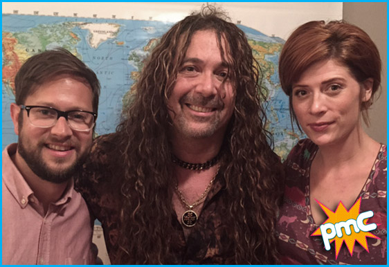 Jess Harnell with hosts Cole Stratton and Vanessa Ragland
