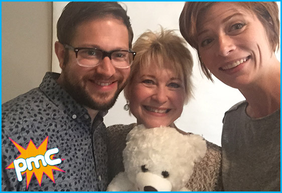 Dee Wallace with hosts Cole Stratton and Vanessa Ragland