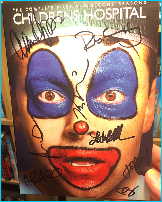 Childrens Hospital DVD signed by Rob Huebel and Lake Bell