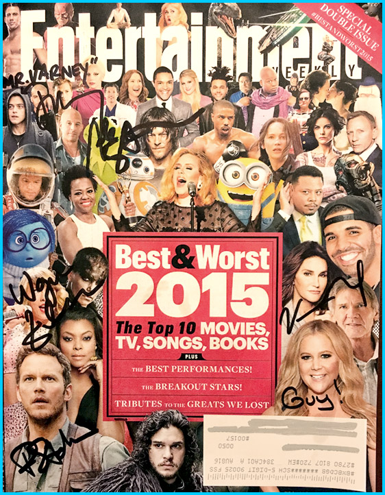 Signed Entertainment Weekly Best and Worst of 2015