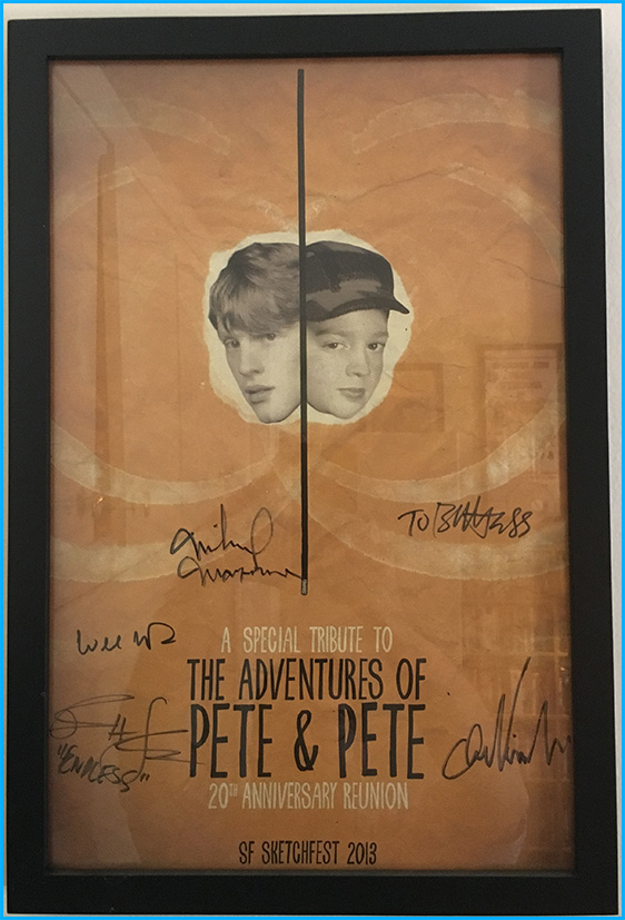 Signed Pete and Pete poster
