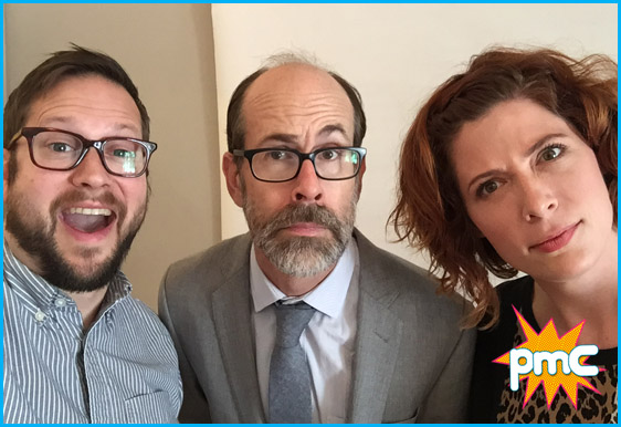 Brian Huskey with hosts Cole Stratton and Vanessa Ragland