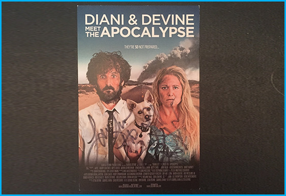 Diani & Devine signed poster